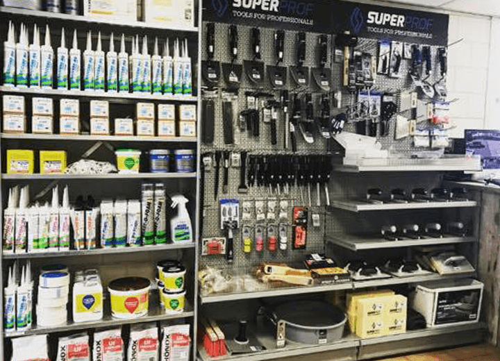 Showroom winkel bouwmaterialen Lith